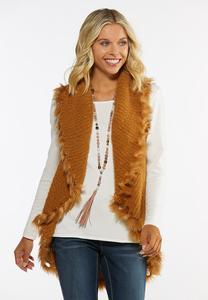 Wispy Faux Fur Vest