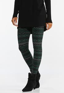 Fairisle Fleece Lined Leggings