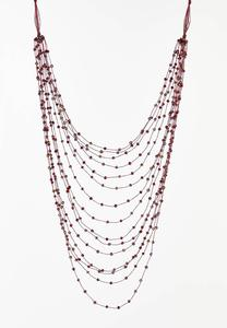 Crystal Layer Merlot Necklace