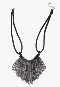 Crystal Fringe Bib Necklace