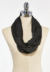 Woven Sequin Infinity Scarf