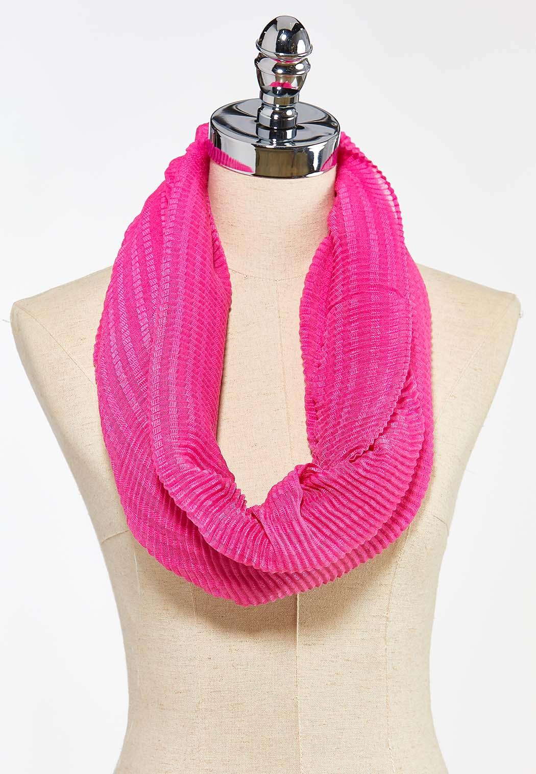Solid Crinkled Infinity Scarf