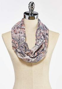 Paisley Shimmer Infinity Scarf