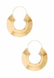 Wide Gold Hoop Earrings
