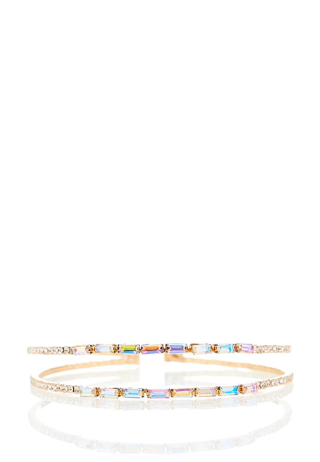 Baguette Glass Cuff Bracelet
