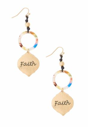 Faith Multi Lucite Earrings