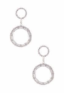 Sparkle Open Circle Earrings
