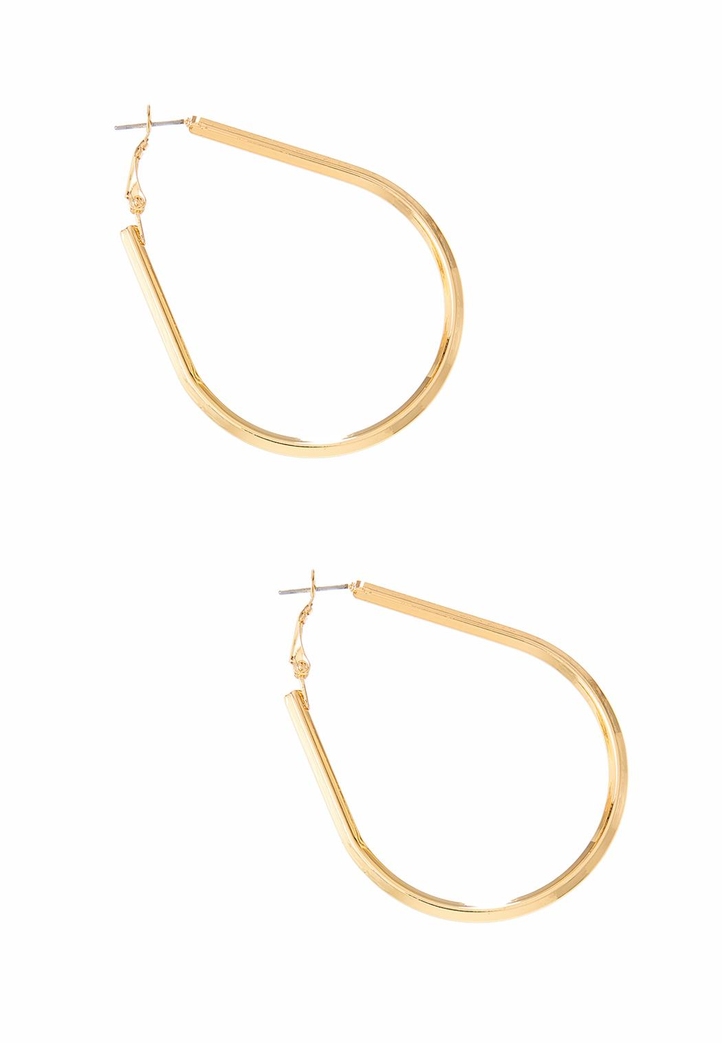 Oval Gold Hoop Earrings