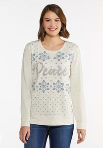 Plus Size Peace Snowflake Top