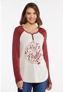 Peace On Earth Baseball Tee