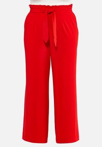 Plus Size Tie Waist Trouser Pants