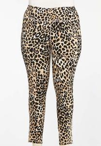 Plus Size Spotted Safari Leggings