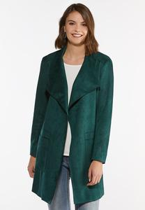 Green Faux Suede Jacket