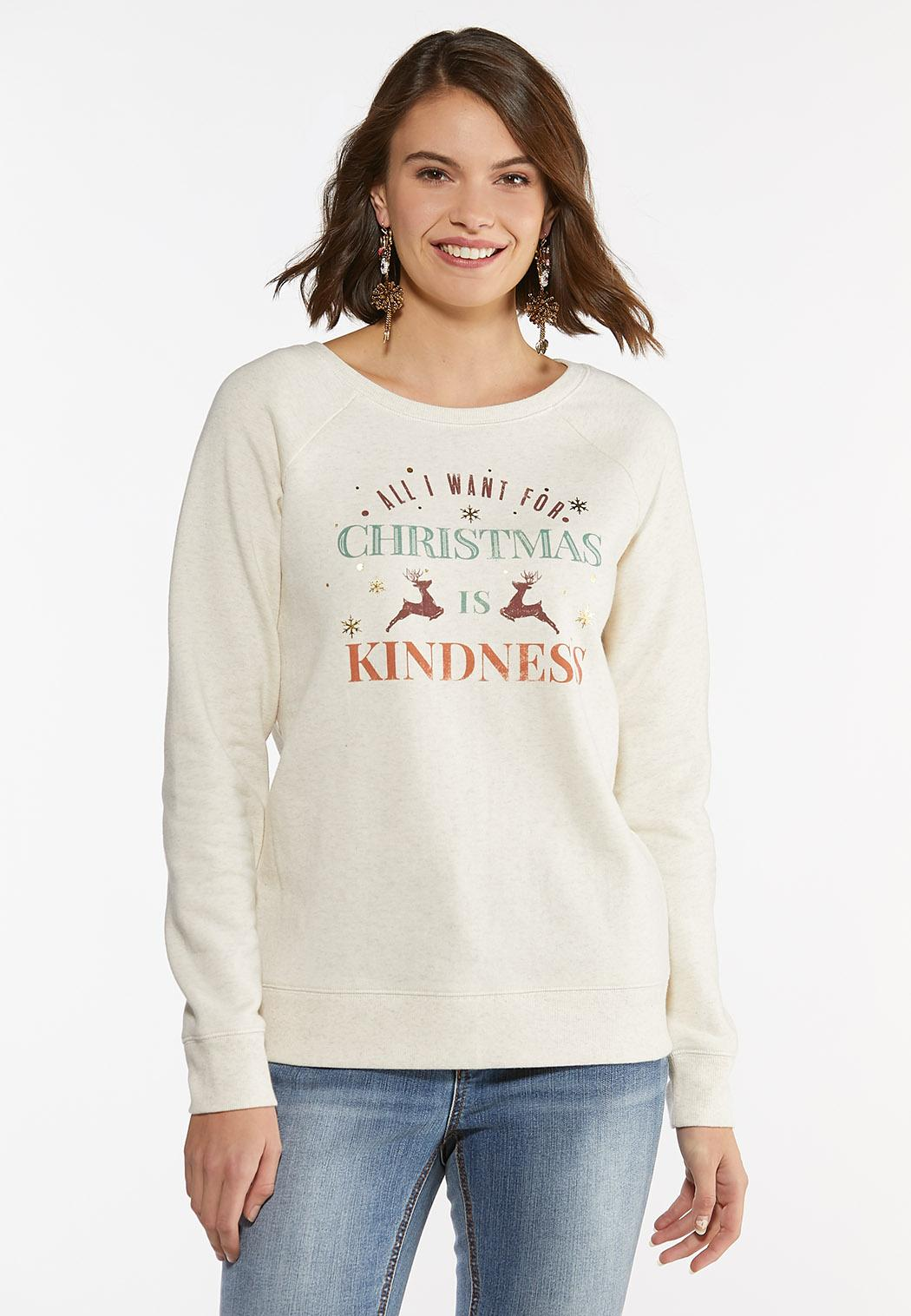 Plus Size All I Want For Christmas Sweatshirt