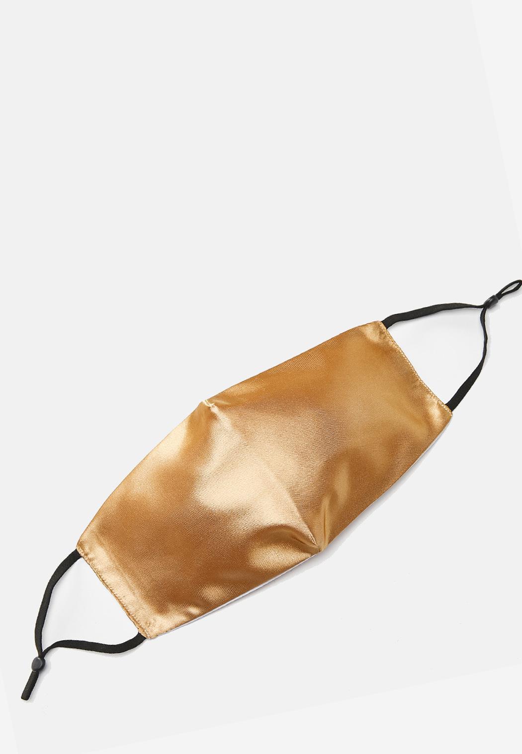 Gold Sateen Face Mask