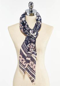 Floral Chorus Oblong Scarf