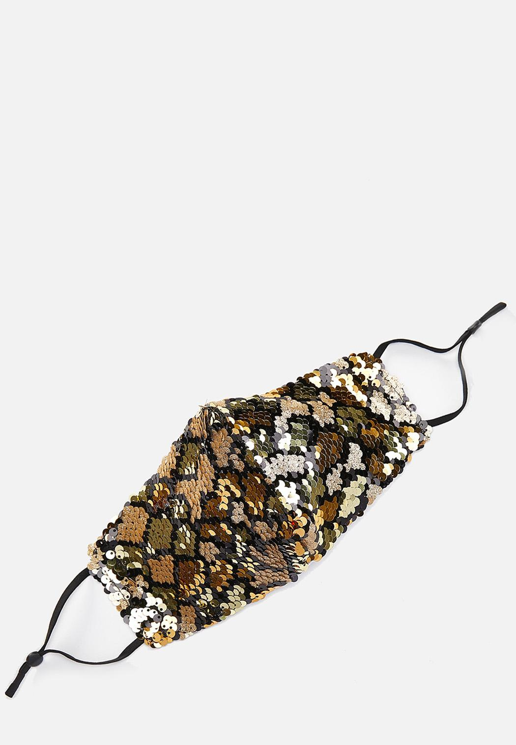 Abstract Sequin Face Mask