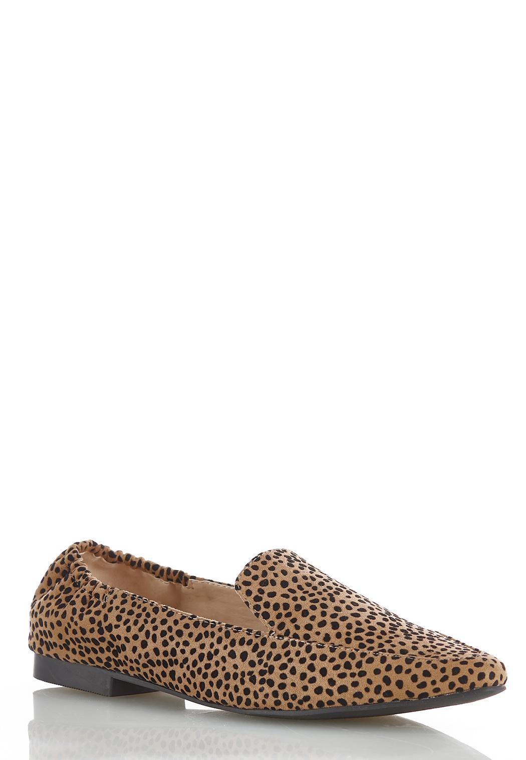 Faux Suede Cheetah Flats