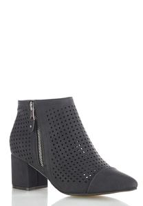 Perforated Side Zip Booties