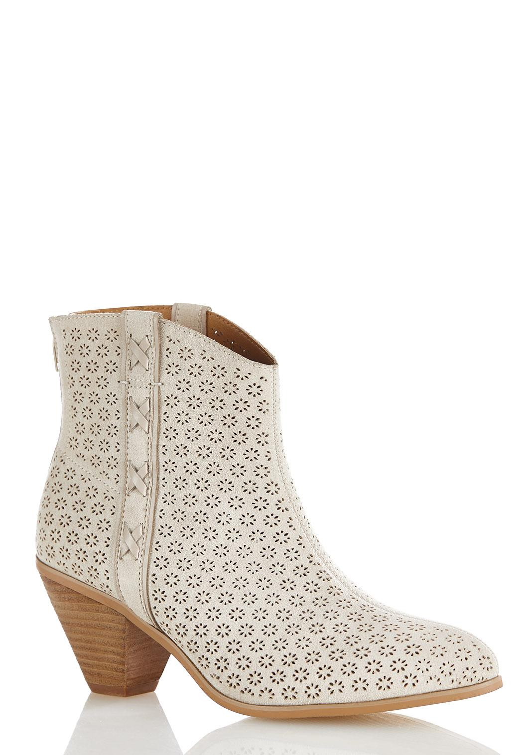 Cutout Western Ankle Boots