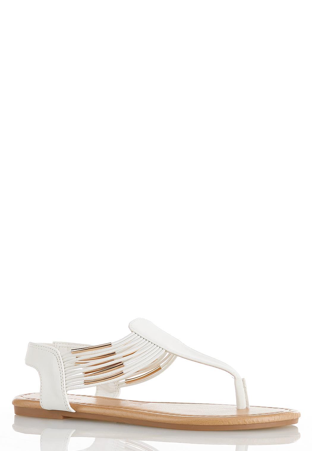 Elastic Band Thong Sandals