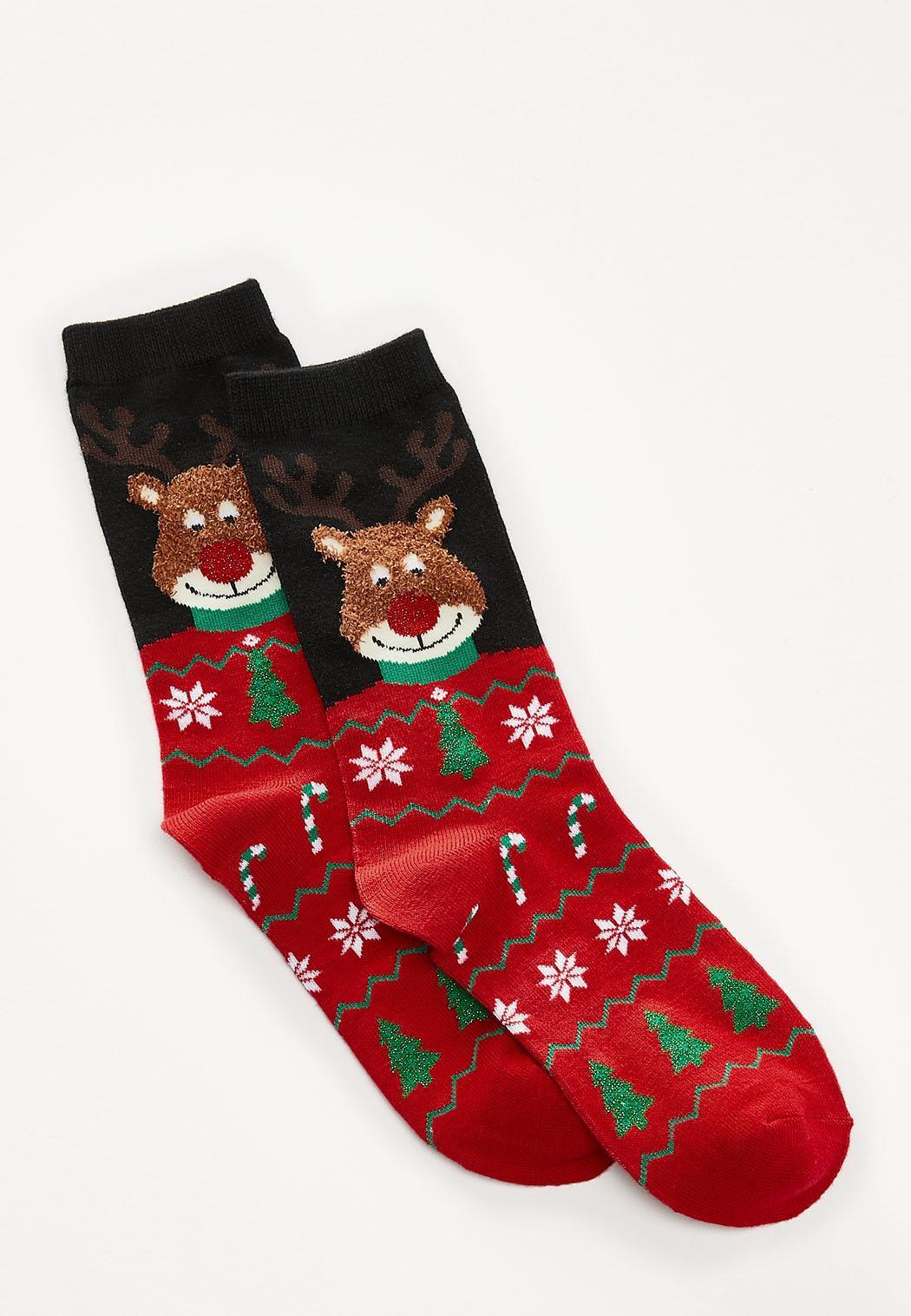 Festive Rudolph Socks