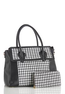 Houndstooth Wallet And Satchel