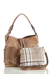 Ostrich Hobo Handbag
