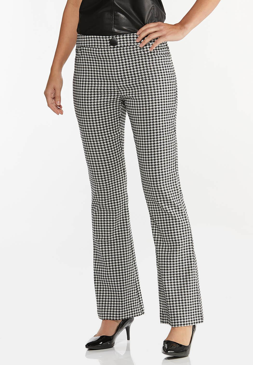 Houndstooth Flare Pants
