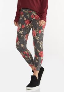 Rose Floral Leggings