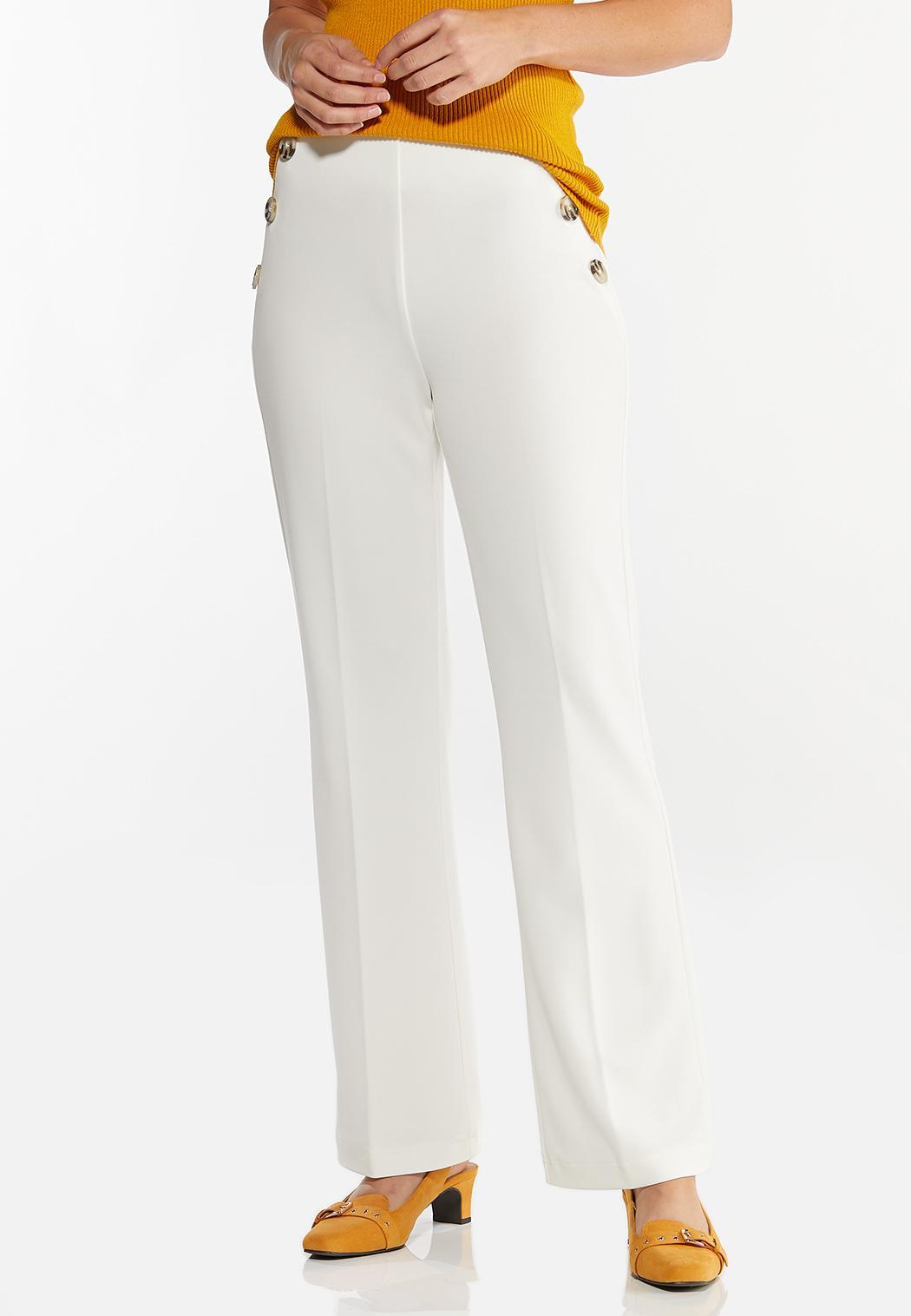Petite Solid Sailor Trouser Pants