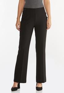 Petite Solid Sailor Trouser Pants