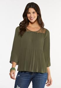 Pleated Lace Top