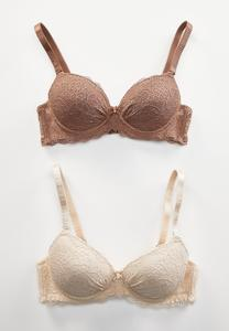 Lace Push-Up Bra Set