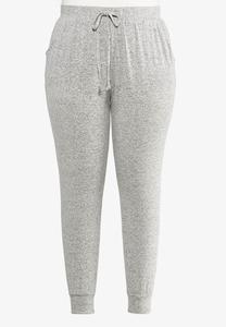 Plus Size Brushed Hacci Joggers