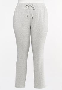 Plus Size Gray Athleisure Pants