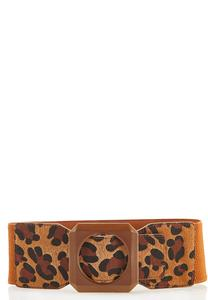 Leopard Fur Stretch Belt