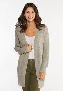 Plus Size Distressed Cardigan Sweater