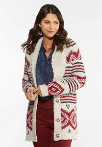 Cozy Aztec Cardigan Sweater