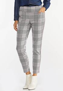 Slim Plaid Pants