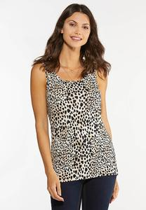 Plus Size Soft Leopard Tank