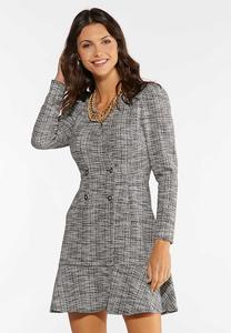 Boucle Button Dress