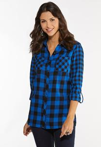 Plus Size Buffalo Plaid Shirt