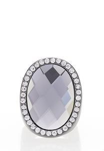 Hematite Stone Stretch Ring