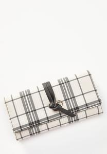 Plaid Knot Strap Wallet