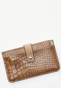 Croc Card Holder Wallet