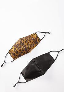 Leopard Face Mask Set