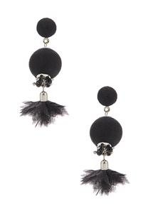 Wispy Chiffon Dangle Earrings