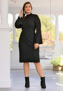 Plus Size Cable Sweater Skirt