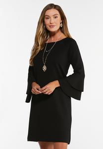 Plus Size Double Flounced Sleeve Top